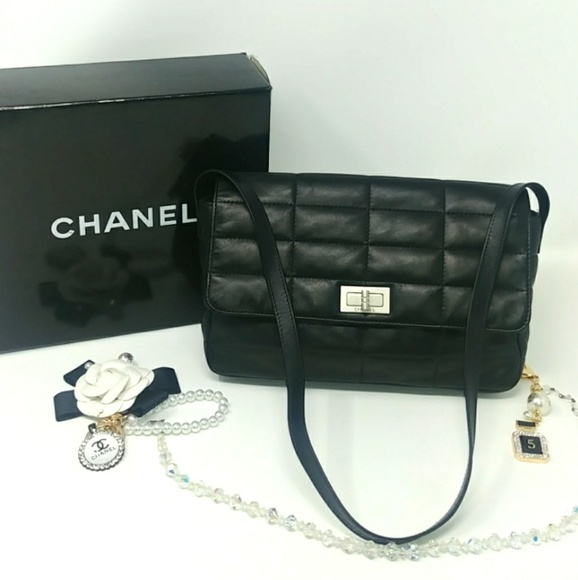 a105a0cf2b2bac CHANEL Bags | Rare Auth Chocolate Bar 255 Black Flap Bag | Poshmark